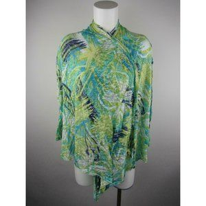 Rd XL Multicolor Cotton Polyester Wrap Blouse Top